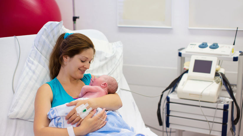 dieťa, mamička, nemocnica
