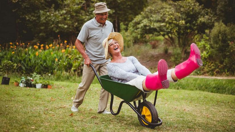 dôchodca, dôchodok, záhrada