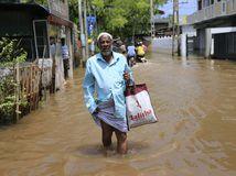 Srí Lanka, záplavy