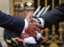 stisk, Emmanuel Macron, Vladimir Putin