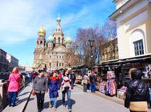 Petrohrad, Rusko, Chrám Spasiteľa na krvi