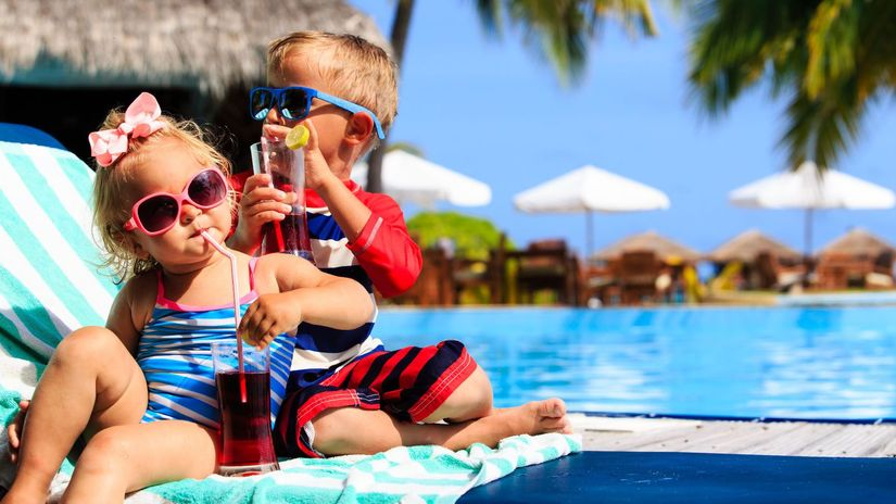 dovolenka, leto, deti, letná dovolenka, bazén,...