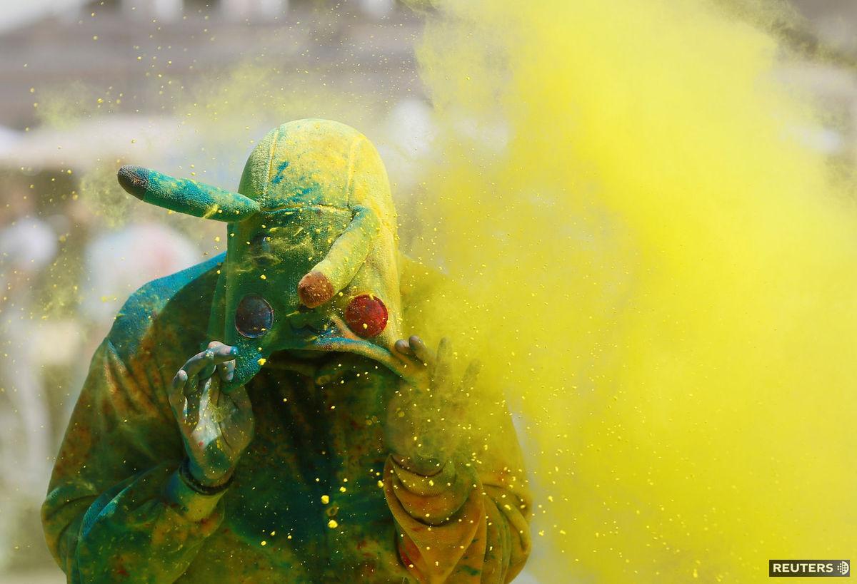 farby, žltá, Ukrajina, maska, kostým, Colour run, Pikaču, Pikachu