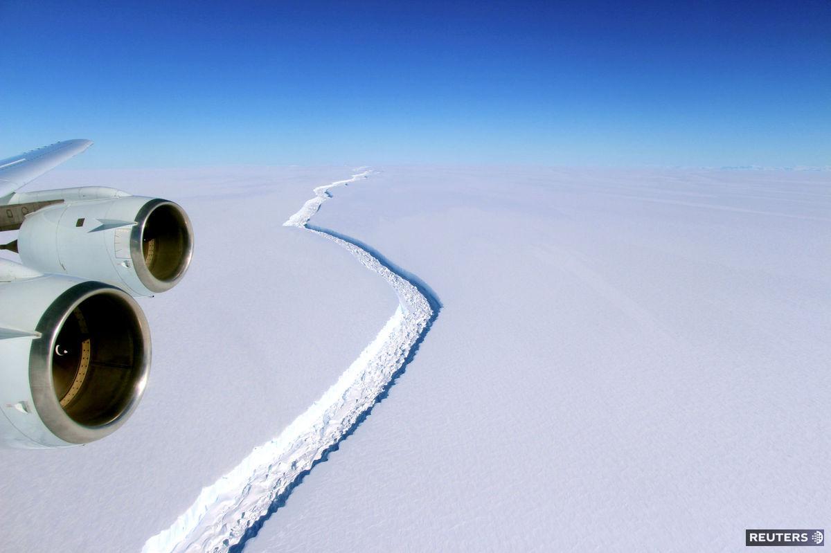 lietadlo, ľadovec