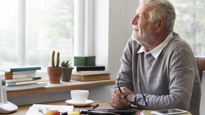 dôchodca, dôchodok, penzia, úradník, kancelária