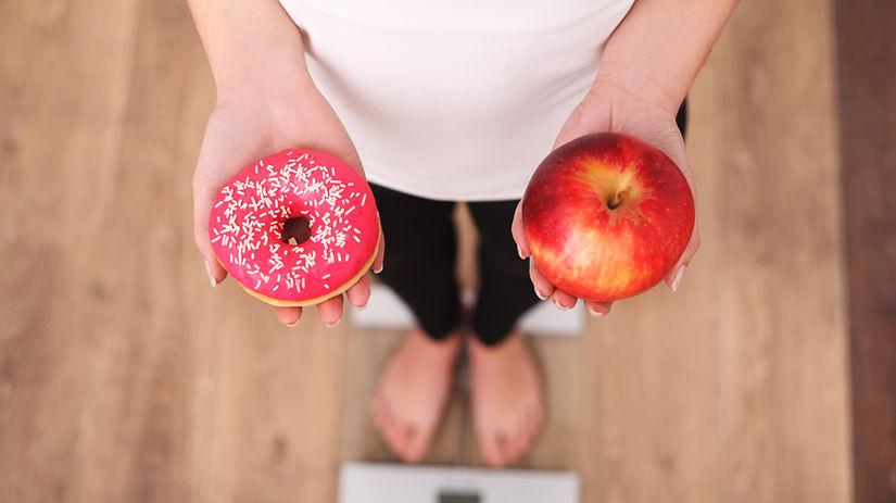 váha, strava, šiška, jablko