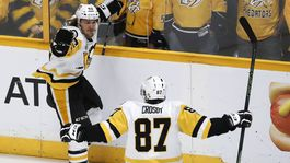 Carl Hagelin, Sidney Crosby