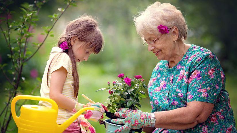 babička, babka, vnúča