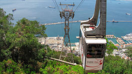 Gibraltár, lanovka, opičí vrch, more