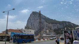 Gibraltár, letisko, opičí vrch, skala