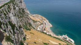 Gibraltár, opičí vrch, kopec,