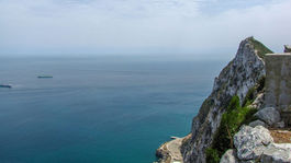 Gibraltár, skala, more