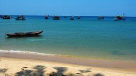 ostrov Phu Quoc, Vietnam, exotika, pláž, more, dovolenka, cestovanie, lode, člny