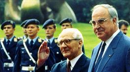 Helmut Kohl, Erich Honecker
