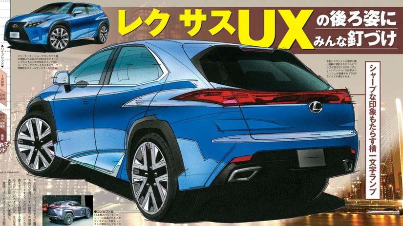 Lexus UX - ilustrácia