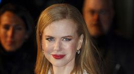 Rok 2009: Herečka Nicole Kidman na premiére muzikálu Nine.