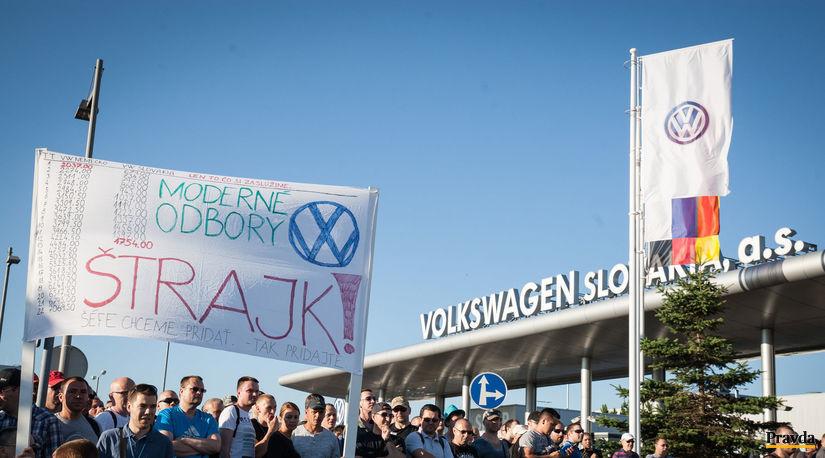 volkswagen,  protest, štrajk,