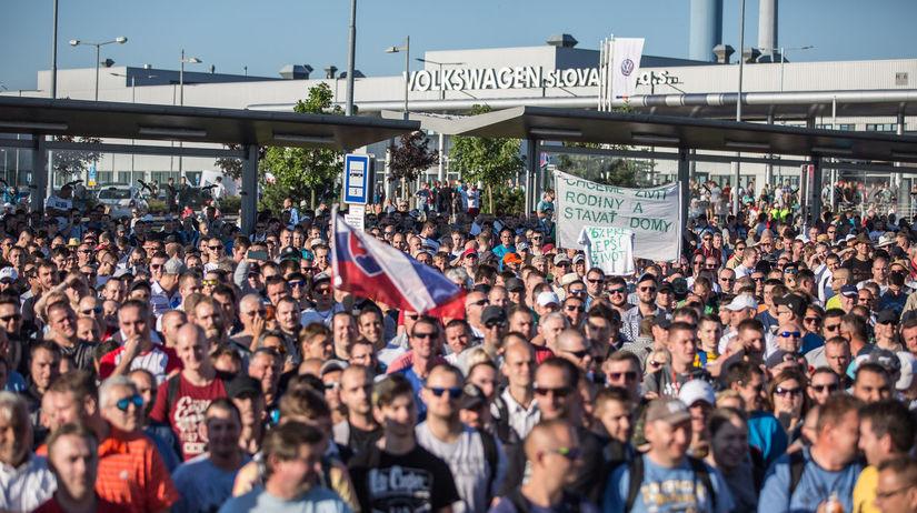 volkswagen, štrajk, protest,