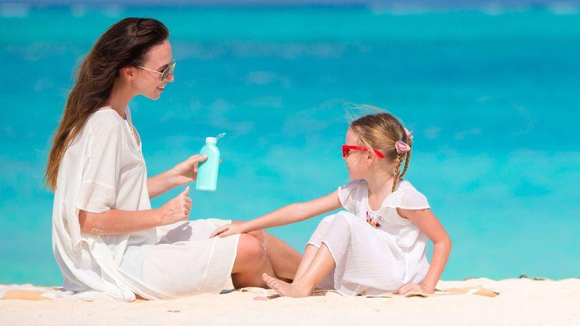 dovolenka, more, dieta, mama