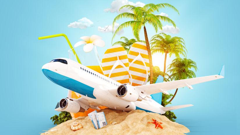 lietadlo, dovolenka