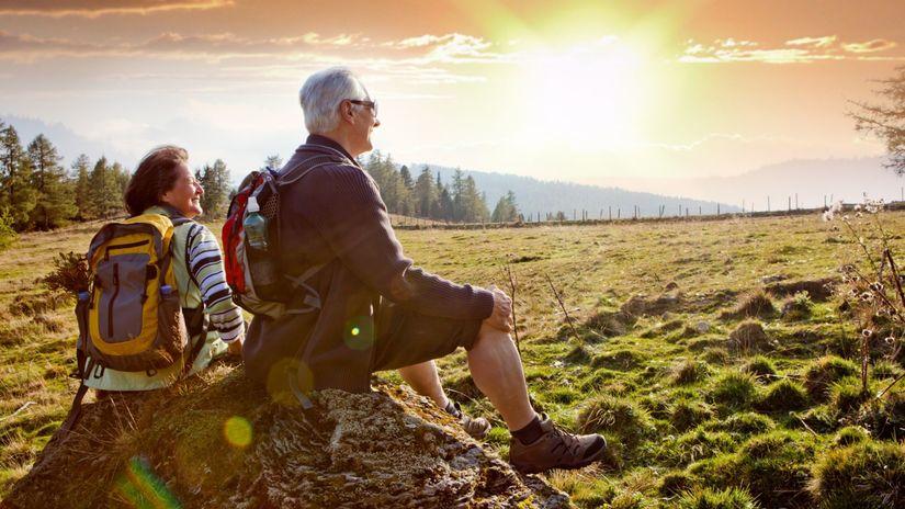 príroda, dôchodcovia, penzia, výlet, túra
