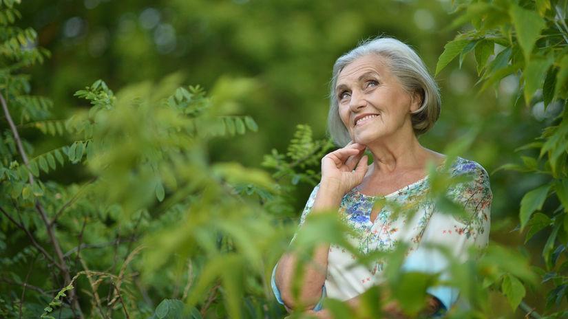 dôchodca, dôchodkyňa, senior, dôchodok, les
