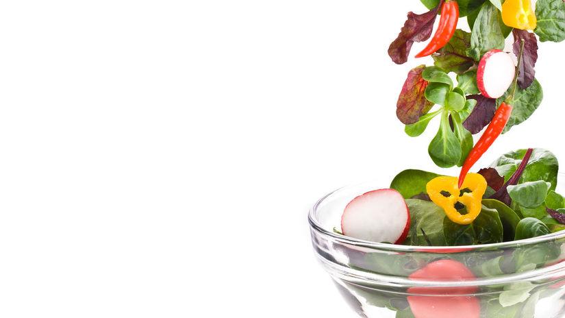 jedlo, šalát, zelenina