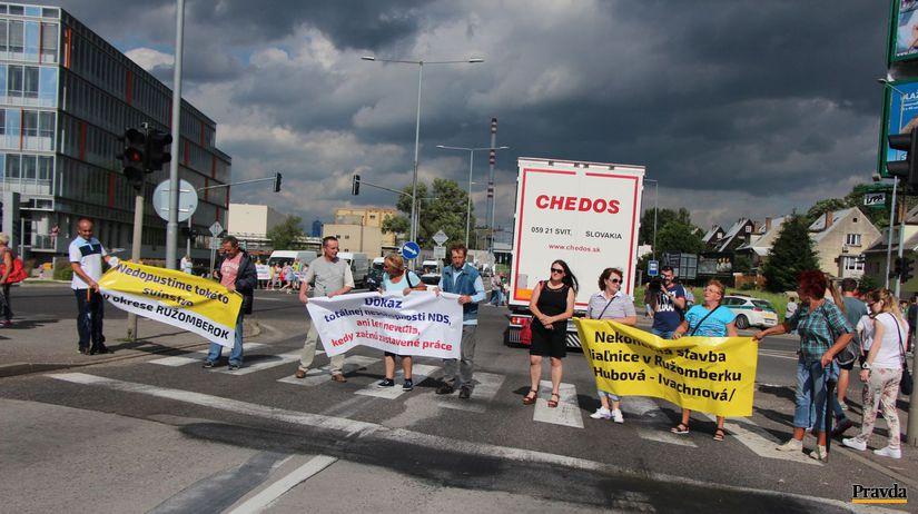 ružomberok, blokáda, protest, demonštrácia,...