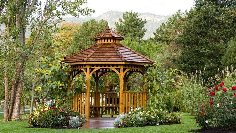 záhrada, altánok