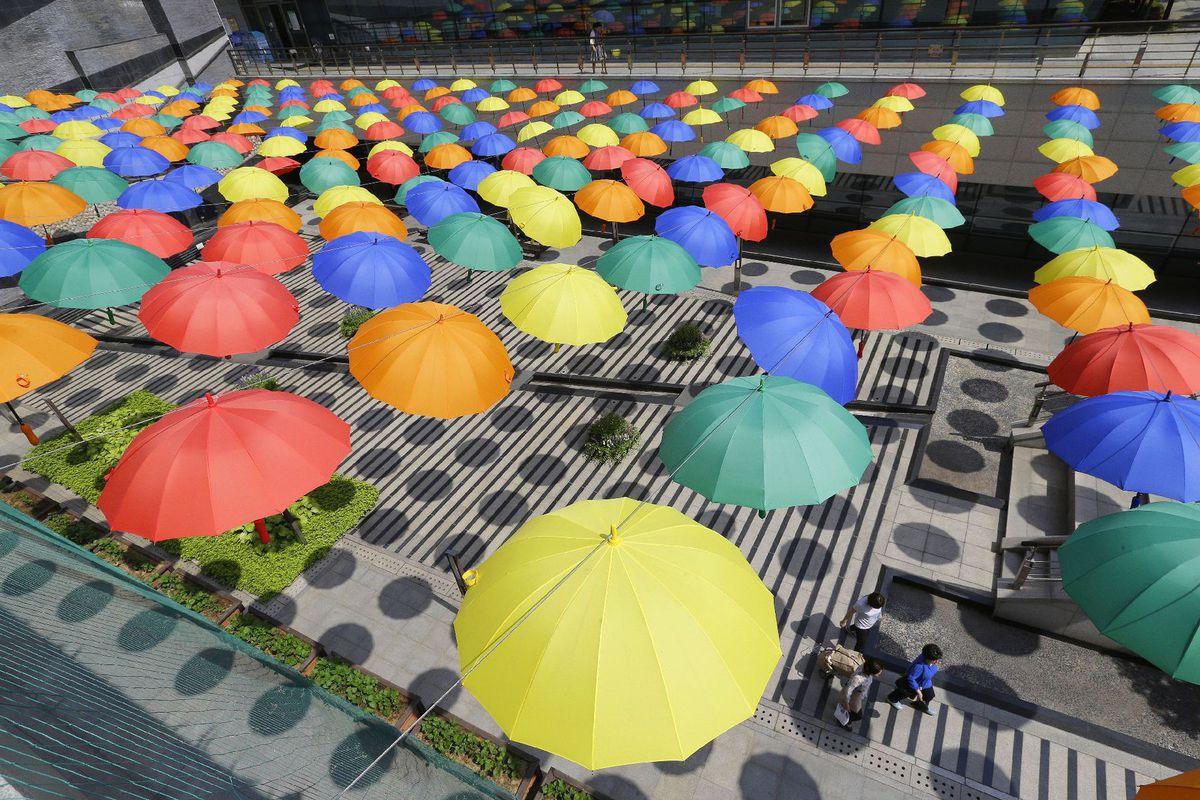 dáždniky, počasie, Južné Kórea