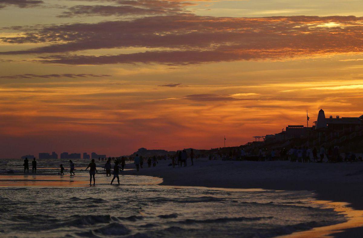 Florida, večer, more, letovisko, leto, dovolenka, cestovanie