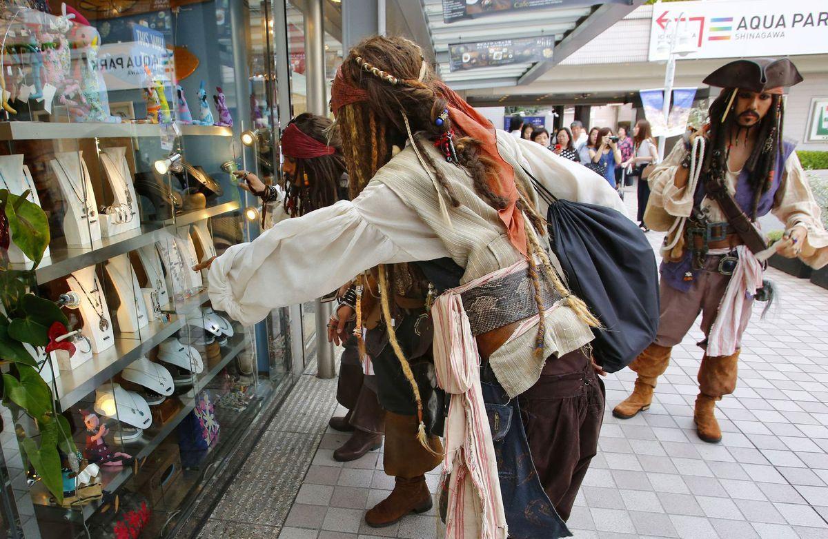 Japonsko, Piráti z Karibiku, Johhny Depp, Jack Sparrow, výklad, obchod, šperky