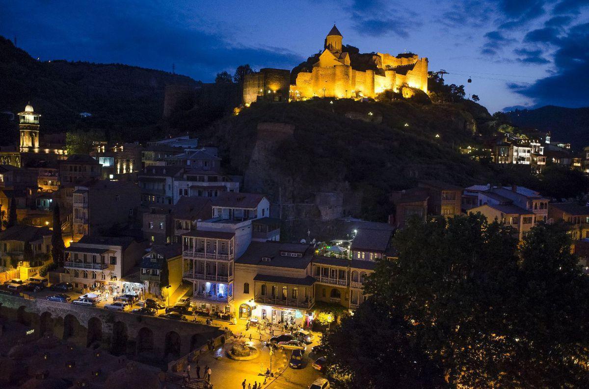 Tbilisi, Gruzínsko, pevnosť Narikala