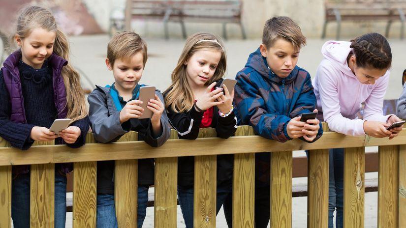 deti, elektronika, smartfón, technológie