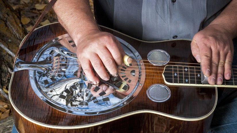 gitara, dobro, hudba, country, nástroj