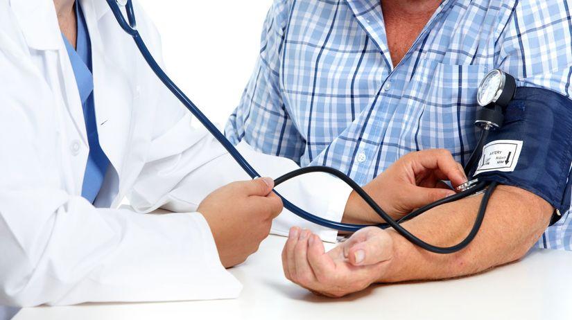 lekár, krvný tlak, tlakomer, vyšetrenie