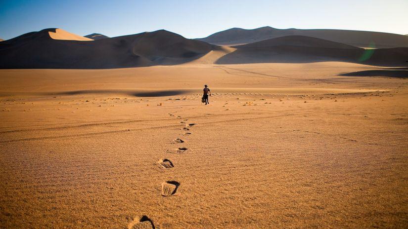 púšť, utečenci, líbya, piesok