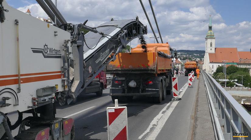 rekonstrukcia mosta snp, most, oprava vozovky,...