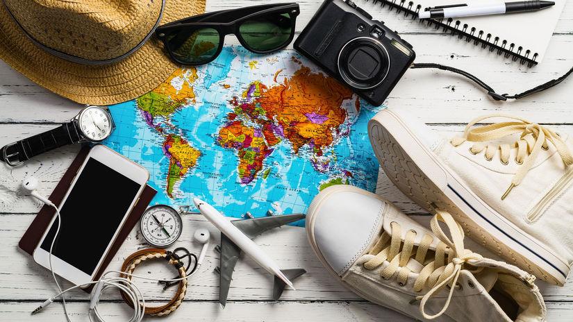 cestovanie, mapa, dovolenka, leto, balenie,...