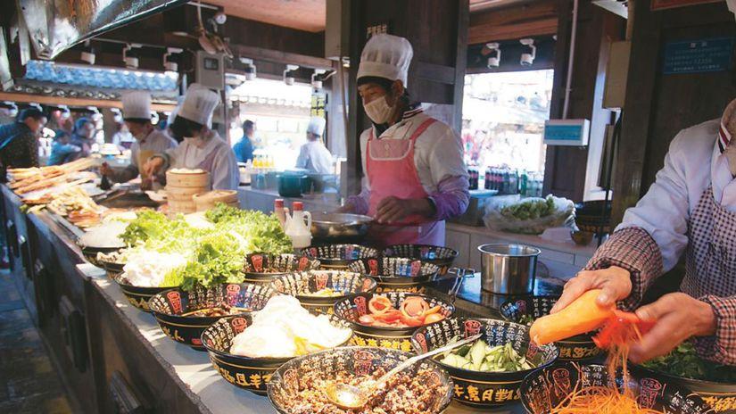 jedlo, street food, čína,