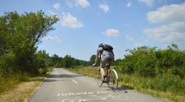 jurava smer Vajnory, cyklista, bicykel