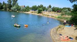 JuRaVa Vajnorské jazero, leto, kúpanie