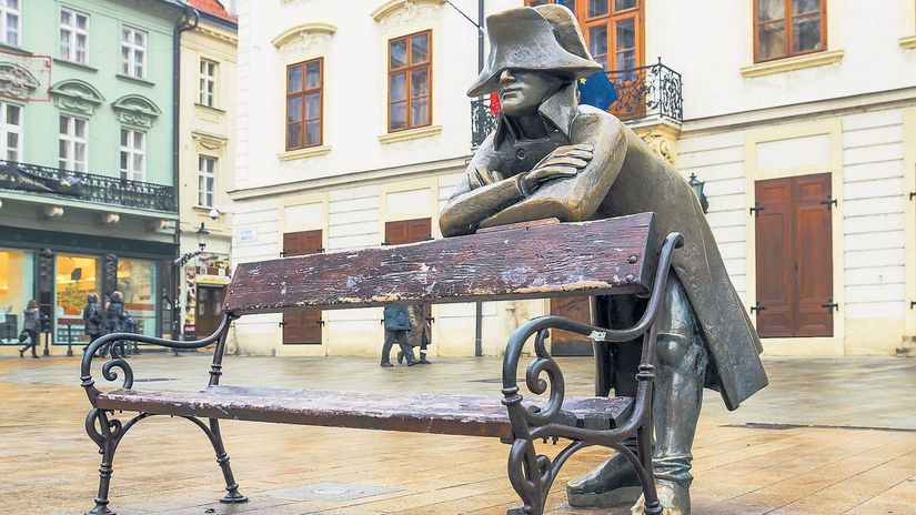 Bratislava, socha, napoleonský vojak