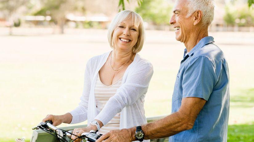 dôchodca, dôchodok, bicykel