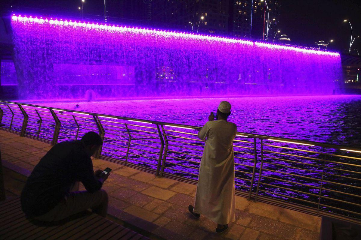 Dubaj, vodopád