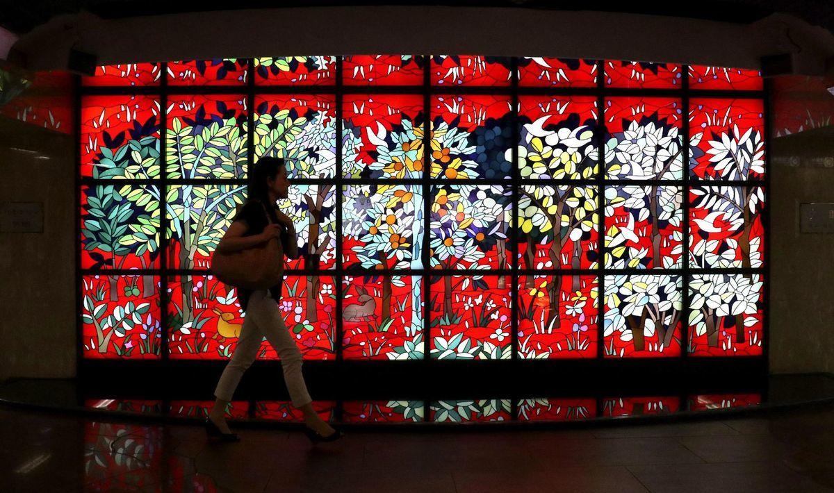 Japonsko, vitráž, sklo, farby, Tokio