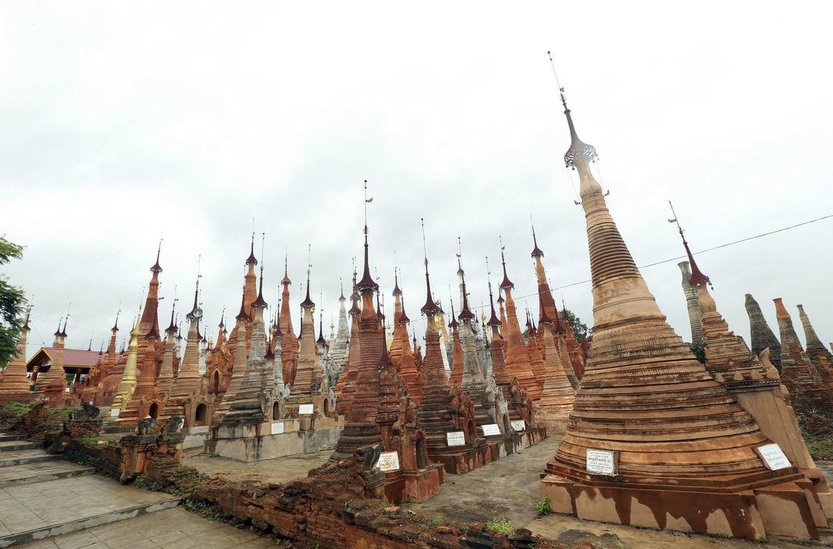Mjanmarsko, pagody,