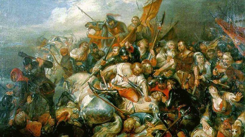 Nicaise de Keyser, bitka, obraz