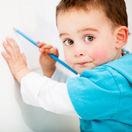 dieťa, ceruzka, kreslenie