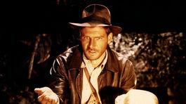 Herec Harrison Ford na zábere z filmu Dobyvatelia stratenej archy